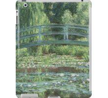 Claude Monet - The Japanese bridge, Impressionism iPad Case/Skin