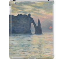 Claude Monet - The Cliff, Étretat,  Sunset  Impressionism iPad Case/Skin