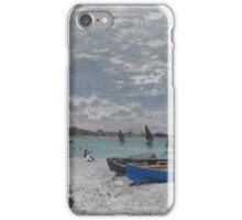 Claude Monet - The Beach at Sainte-Adresse (1867) iPhone Case/Skin