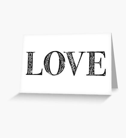 Serif Stamp Type - Love Greeting Card