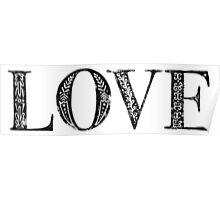 Serif Stamp Type - Love Poster
