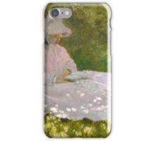 Claude Monet - Springtime (1872)  Impressionism iPhone Case/Skin