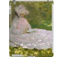 Claude Monet - Springtime (1872)  Impressionism iPad Case/Skin