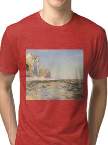 Claude Monet - Seashore and Cliffs of Pourville in the Morning (1882) Tri-blend T-Shirt