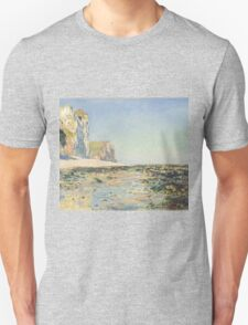 Claude Monet - Seashore and Cliffs of Pourville in the Morning (1882) Unisex T-Shirt