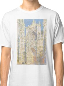 Claude Monet - Rouen Cathedral.  West Facade.  Sunlight  , Impressionism Classic T-Shirt