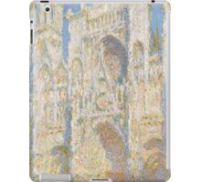 Claude Monet - Rouen Cathedral.  West Facade.  Sunlight  , Impressionism iPad Case/Skin