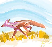 Running Red Fox by Ray Cassel