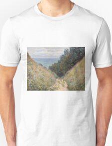 Claude Monet - Road at La Cavée  Pourville  Unisex T-Shirt