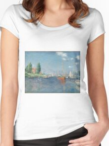 Claude Monet - Red Boats. Argenteuil  Women's Fitted Scoop T-Shirt