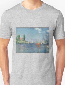 Claude Monet - Red Boats. Argenteuil  Unisex T-Shirt