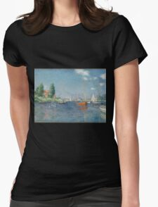 Claude Monet - Red Boats. Argenteuil  Womens Fitted T-Shirt