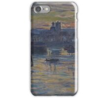 Claude Monet - Port of Dieppe  Evening, Impressionism iPhone Case/Skin