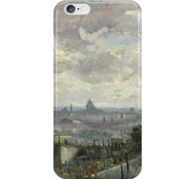 Vincent Van Gogh  Post - Impressionism  View of Paris iPhone Case/Skin