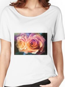 Orange roses close up Women's Relaxed Fit T-Shirt