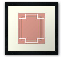 Regency Inlay in Smoked Salmon and White Onyx Framed Print