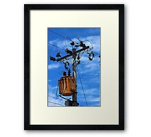 Transformer on a Pole Framed Print
