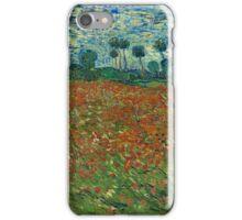 Vincent Van Gogh - Poppy field, June 1890  Famous Paintings. Impressionism. Van Gogh iPhone Case/Skin