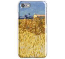 Vincent Van Gogh - Corn Harvest in Provence,  Famous Painting. Impressionism. Van Gogh iPhone Case/Skin