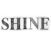 Serif Stamp Type - Shine Poster