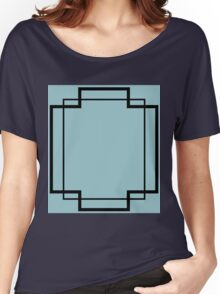 Regency Inlay in Robin's Egg Blue and Black Onyx Women's Relaxed Fit T-Shirt