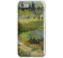 Vincent Van Gogh -Impressionism , Garden at Arles, July 1888 Van Gogh iPhone Case/Skin