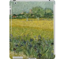 Vincent Van Gogh -Impressionism. Field with Flowers near Arles, 1888 Vincent Van Gogh iPad Case/Skin