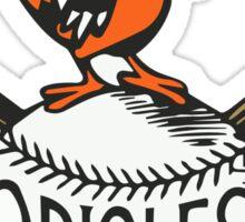 Vintage Orioles Logo Sticker