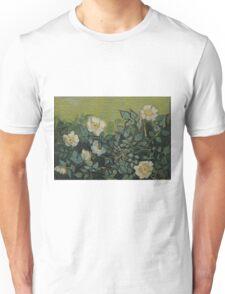 Vincent Van Gogh - Wild roses, Famous Painting. Impressionism. Van Gogh Unisex T-Shirt