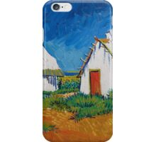 Vincent Van Gogh - White cottages at Saintes-Maries, 1888 iPhone Case/Skin