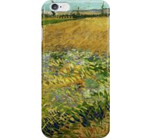 Vincent Van Gogh - Wheatfield,  Famous Painting. Impressionism. Van Gogh iPhone Case/Skin