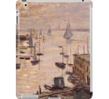Claude Monet - Le Bassin d'Argenteuil vu depuis le pont routier (1874) French  Impressionism. Famous painting iPad Case/Skin