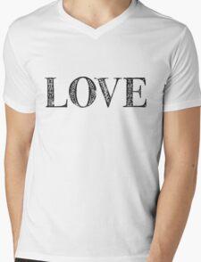 Serif Stamp Type - Love Mens V-Neck T-Shirt