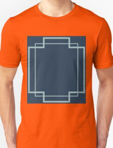 Regency Inlay in Midnight and Robin's Egg Blue Unisex T-Shirt