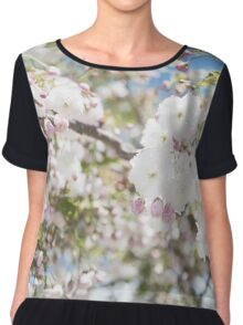 Soft Cherry Blossoms Chiffon Top