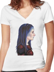 Illyria Portrait Women's Fitted V-Neck T-Shirt