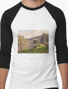 Claude Monet - Jeufosse  The Effect in the Late Afternoon  Men's Baseball ¾ T-Shirt