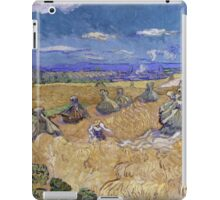 Vincent Van Gogh - Wheat Fields with Reaper, Auvers, Impressionism. - Wheat Fields with Reaper, Auvers, 1890. Famous Paintings. Impressionism. iPad Case/Skin