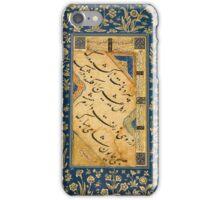 A CALLIGRAPHIC QUATRAIN, SIGNED BY SHAH MUHAMMAD, PERSIA, SAFAVID, 16TH CENTURY iPhone Case/Skin