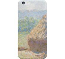 Claude Monet - Haystacks (1885) iPhone Case/Skin