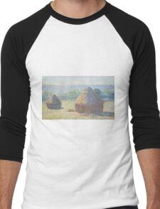Claude Monet - Haystacks (1885) Men's Baseball ¾ T-Shirt