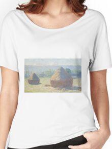 Claude Monet - Haystacks (1885) Women's Relaxed Fit T-Shirt