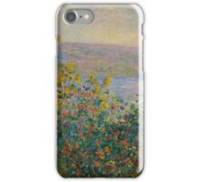 Claude Monet - Flower Beds at Vetheuil (1881) iPhone Case/Skin