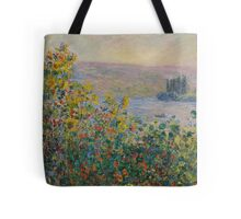 Claude Monet - Flower Beds at Vetheuil (1881) Tote Bag