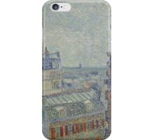 Vincent Van Gogh - View from Theo's apartment, March 1887 - April 1887 iPhone Case/Skin