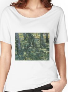 Vincent Van Gogh - Undergrowth, July 1889 - 1889 Women's Relaxed Fit T-Shirt