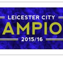 Leicester City 2015/16 Champions Sticker