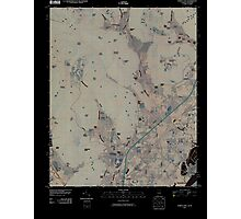 USGS TOPO Map Alabama AL Doran Cove 20100510 TM Inverted Photographic Print
