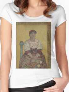 Vincent Van Gogh - The Italian Woman, 1887 Women's Fitted Scoop T-Shirt
