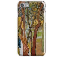Vincent Van Gogh - The garden of Saint Paul's Hospital, The fall of the leaves October, Impressionism 1889 - 1889 iPhone Case/Skin